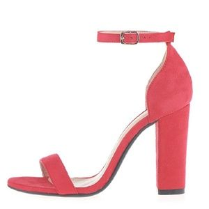 GATSBY Red Heeled Sandals